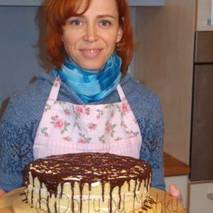 Nahatý dort s čokoládou