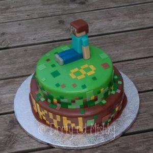 Minecraftový dort
