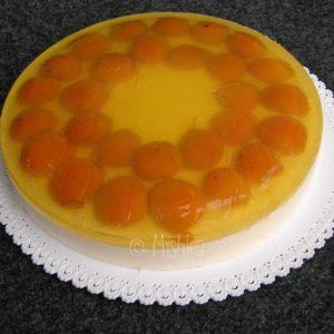 Tvarohový dort s želatinou a meruňkami