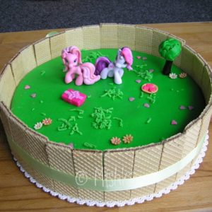 Narozeninový dort - zahrádka s My Little Ponny
