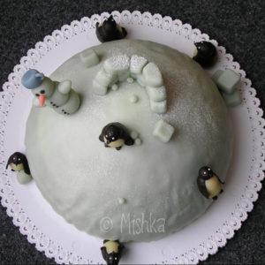 Dort - Kopec se sněhulákem a tučňáky, pohled shora