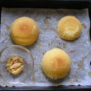 Upečené korpusy na detaily dortu