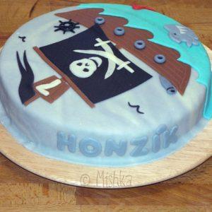 Nápis Honzík na dortu