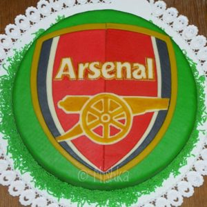Dort s logem FC Arsenal