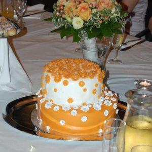 Svatební dort v akci