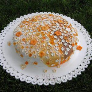 Kytičkový dort ze zbytků