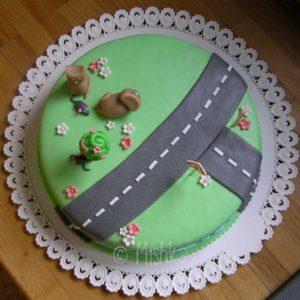 Dodělané zdobení dortu