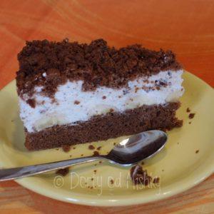 Krtkův dort, porce na talíři