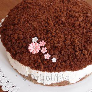 Krtkův dort s kytičkami
