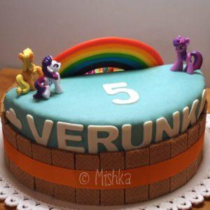 Detail jména na dortu
