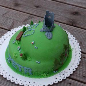 Turistický dort, pohled zboku