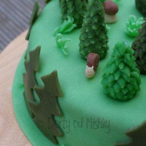 Detail šneka na dortu