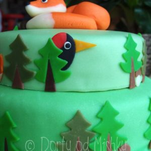 Datel na boku dortu