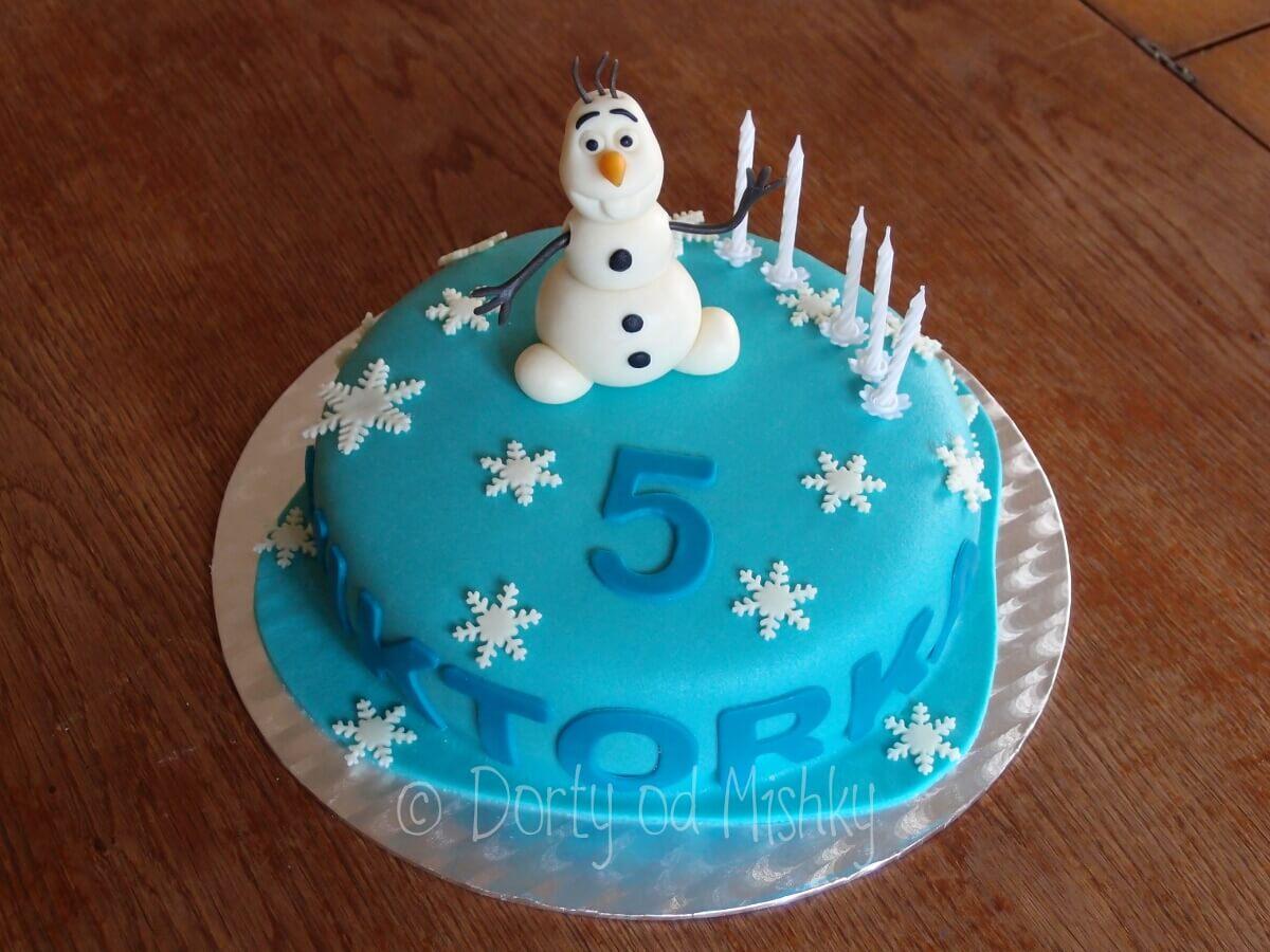 Ledové království aneb dort s Olafem