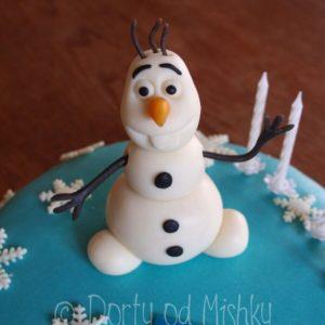 Detail sněhuláka Olafa