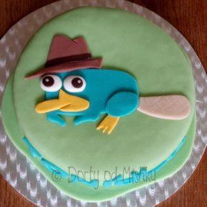 Ptakopysk Perry na dortě