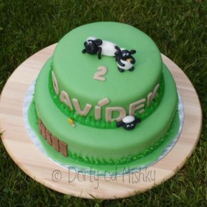 Beránek Shaun na dortu