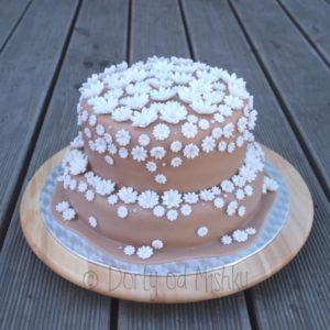 Svatební květinový dort