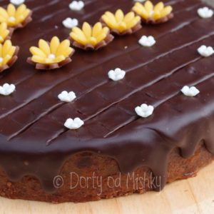 Detail okraje dortu