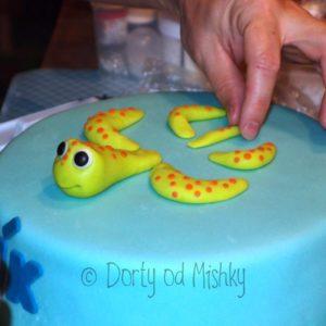 Želva na dortu