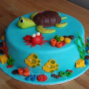 Dort s vodní želvou, zboku