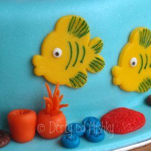 Detail boků - ryby