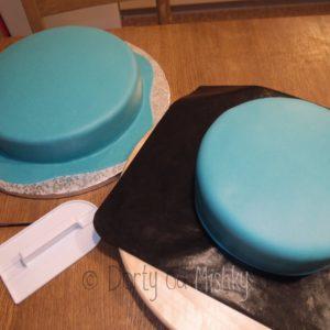 Obě patra dortu