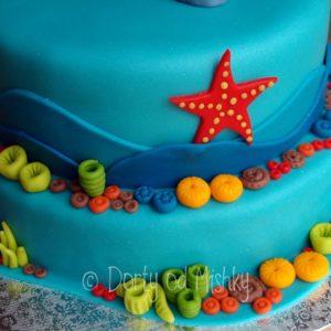 Detail boků dortu