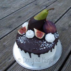 Nahatý dort s hruškou a fíky